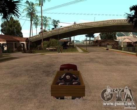 Gaz M-20 Pobeda PickUp pour GTA San Andreas sur la vue arrière gauche