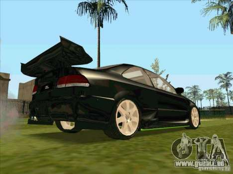 Honda Civic Coupe 1995 from FnF 1 für GTA San Andreas obere Ansicht