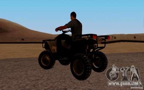 Quadbike from BF 3 pour GTA San Andreas laissé vue