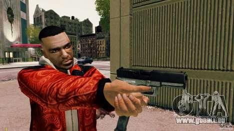 Glock 18 Akimbo (schwarz/grau) für GTA 4 dritte Screenshot