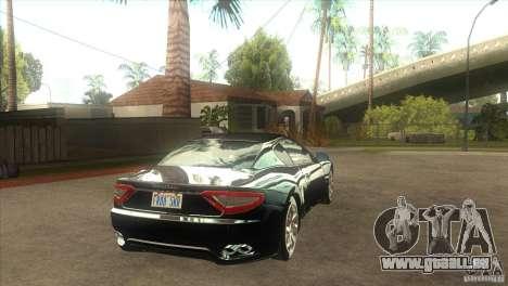Maserati Gran Turismo 2008 pour GTA San Andreas vue de droite