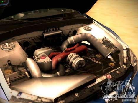 Subaru impreza Tarmac Rally pour GTA San Andreas vue intérieure