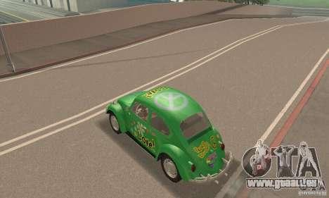 Volkswagen Beetle 1963 für GTA San Andreas Innen