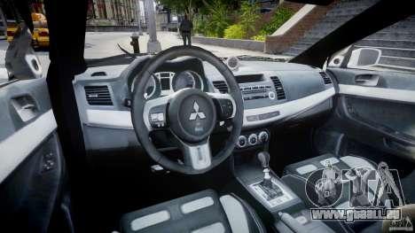 Mitsubishi Evolution X Police Car [ELS] für GTA 4 rechte Ansicht