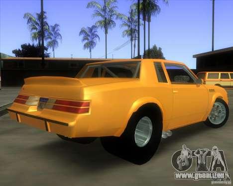 Buick GNX pro stock pour GTA San Andreas laissé vue
