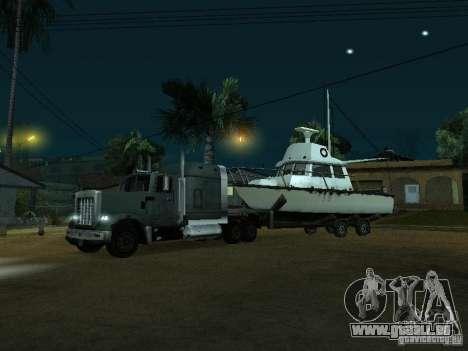 Remorque bateaux pour GTA San Andreas laissé vue