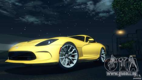 Dodge SRT Viper GTS 2012 V1.0 pour GTA San Andreas vue intérieure