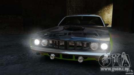 Plymouth Cuda 1971 [EPM] Mopar pour GTA 4 est une vue de l'intérieur
