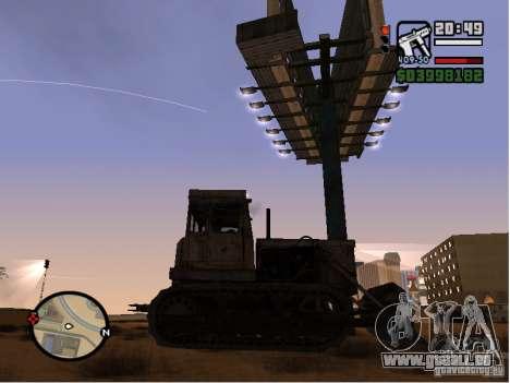 Bulldozer T 130 für GTA San Andreas zurück linke Ansicht