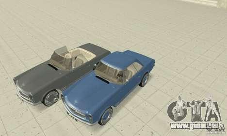 Mercedes-Benz 280SL (Matt) pour GTA San Andreas vue de dessous