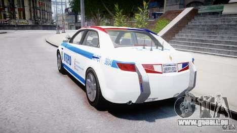 Carbon Motors E7 Concept Interceptor NYPD [ELS] pour GTA 4 est un côté