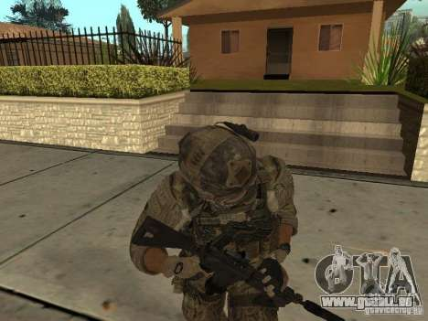 M4A1 avec ACOG de CoD MW3 pour GTA San Andreas quatrième écran