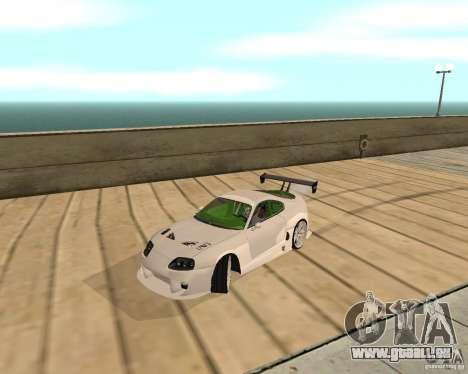 Toyota Supra TwinTurbo pour GTA San Andreas sur la vue arrière gauche