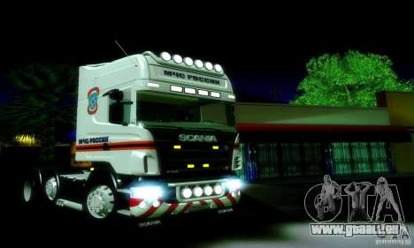 Scania R620 Emercom Romanow für GTA San Andreas linke Ansicht