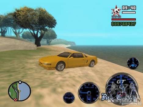 Speedometer GT pour GTA San Andreas troisième écran