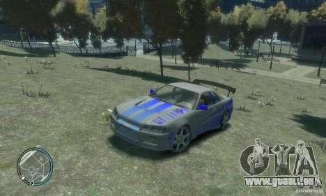 Nissan Skyline GT-R34 pour GTA 4 Vue arrière