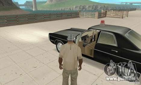 Plymouth Fury III Police für GTA San Andreas Rückansicht