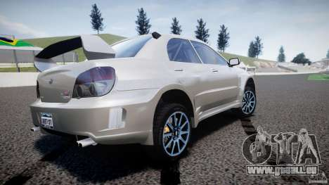 Subaru Impreza STI Wide Body pour GTA 4 Vue arrière de la gauche
