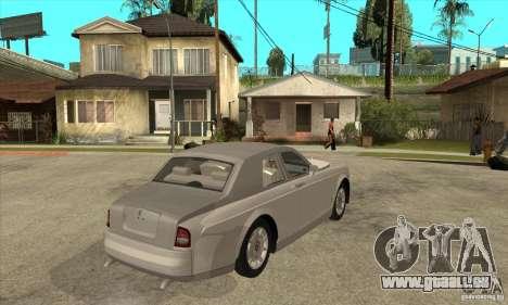 Rolls Royce Coupe 2009 pour GTA San Andreas vue de droite