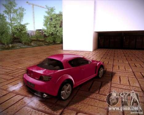 Mazda RX-8 pour GTA San Andreas laissé vue