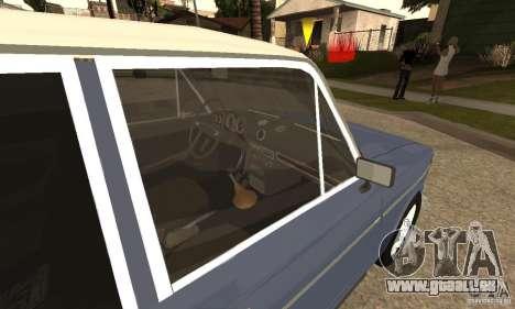 VAZ 2106 anciens v2.0 pour GTA San Andreas vue de droite