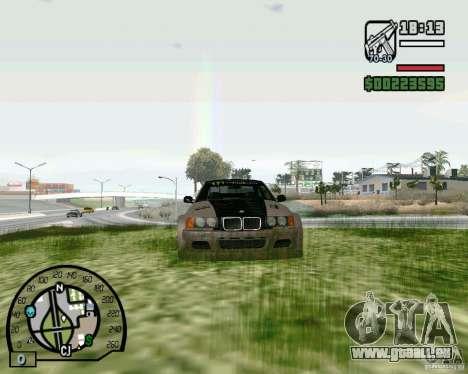 BMW E36 Wide Body Drift pour GTA San Andreas laissé vue
