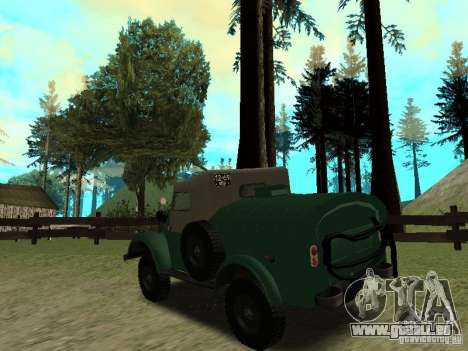 GAZ 69 APA 12 für GTA San Andreas zurück linke Ansicht