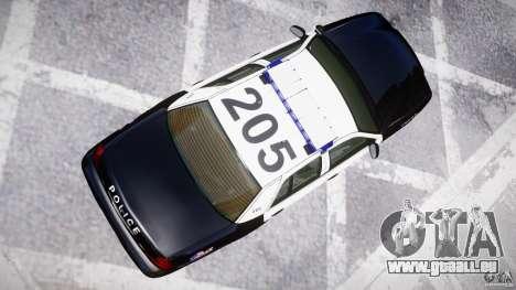Ford Crown Victoria Massachusetts Police [ELS] für GTA 4 Seitenansicht