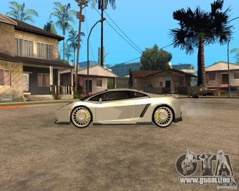 Lamborghini Gallardo für GTA San Andreas Innenansicht