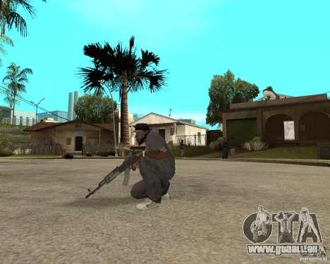 AK47 avec le viseur optique standard pour GTA San Andreas troisième écran