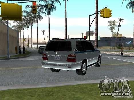 Toyota Land Cruiser 100 VX für GTA San Andreas zurück linke Ansicht