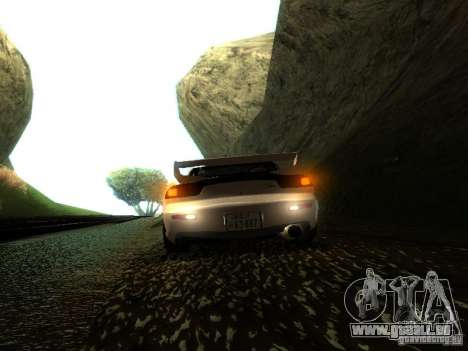 Mazda RX-7 TypeR pour GTA San Andreas vue arrière