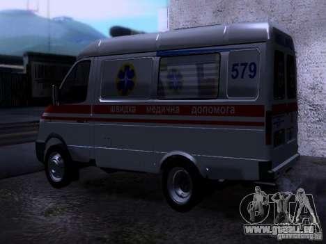 Gazelle 2705-Ambulanz für GTA San Andreas linke Ansicht