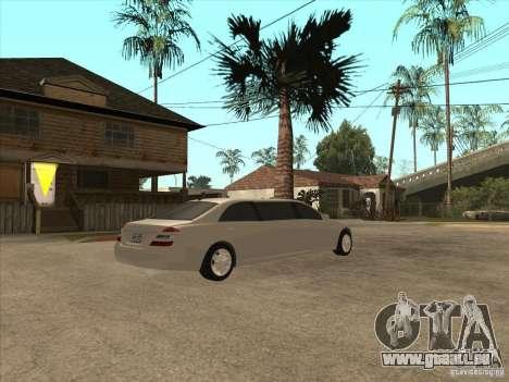 Mercedes-Benz Pullman (w221) SE pour GTA San Andreas vue arrière
