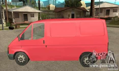 Ford Transit pour GTA San Andreas sur la vue arrière gauche