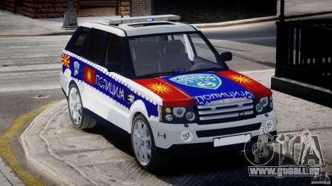 Range Rover Macedonian Police [ELS] für GTA 4 Innenansicht