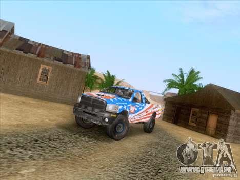 Dodge Ram Trophy Truck für GTA San Andreas Innenansicht