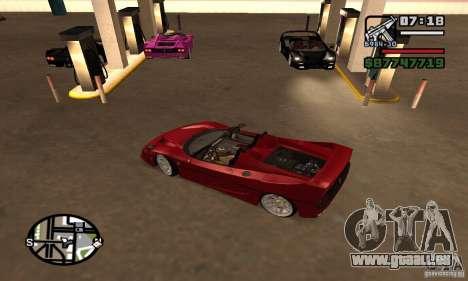 Ferrari F50 Cabrio für GTA San Andreas zurück linke Ansicht