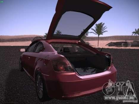 Scion tC pour GTA San Andreas vue de dessus