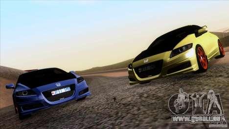 Honda CR-Z Mugen 2011 V1.0 pour GTA San Andreas vue de droite