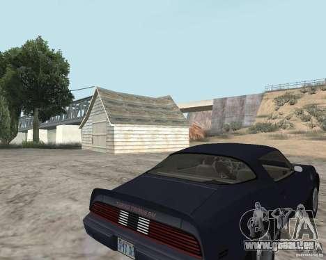 Pontiac Firebird Trans Am Turbo 1980 für GTA San Andreas zurück linke Ansicht