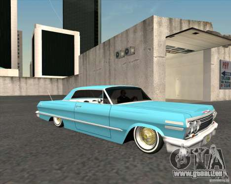 Chevrolet Impala 1963 lowrider pour GTA San Andreas vue de droite