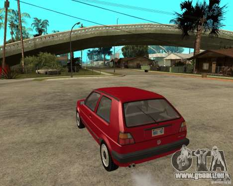 Volkswagen Golf Mk.II pour GTA San Andreas laissé vue