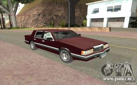 Chrysler Dynasty pour GTA San Andreas laissé vue
