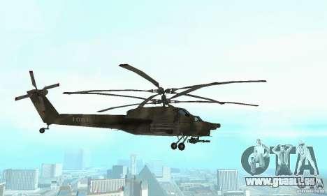 Mi-28 pour GTA San Andreas vue intérieure