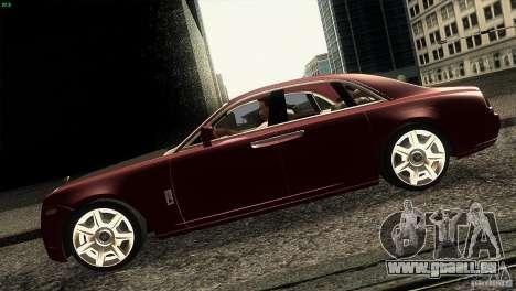 Rolls-Royce Ghost 2010 V1.0 für GTA San Andreas linke Ansicht