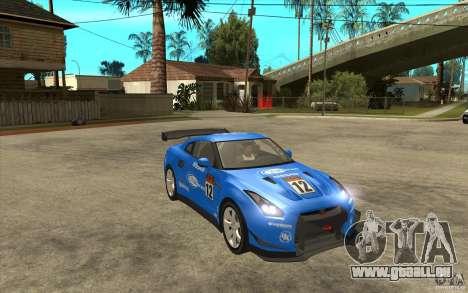 Nissan GT R Shift 2 Edition für GTA San Andreas Innenansicht