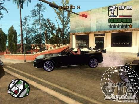 Cadillac XLR pour GTA San Andreas laissé vue