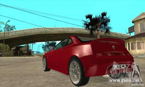 Alfa Romeo GTV pour GTA San Andreas sur la vue arrière gauche