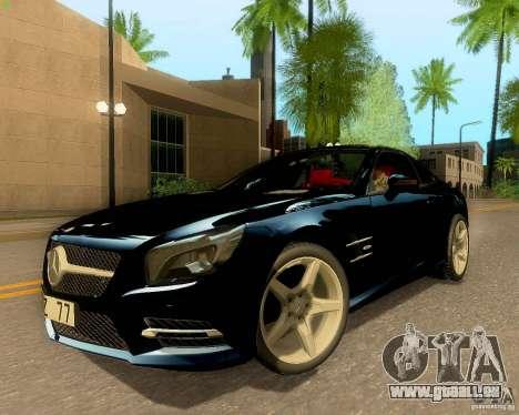 Mercedes-Benz SL350 2013 pour GTA San Andreas vue intérieure